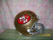 SAN FRANCISCO 49ERS F/S HELMET SIGNED BY 4 HALL OF FAMERS JSA