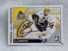 Detroit Red Wings Cory Emmerton Auto Heros & Prospects Kingston Frontenacs Card