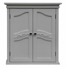 Elegant Home Fashions Victoria Wall Cabinet with 2 Doors, white, 945