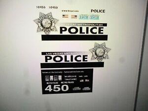 Las Vegas Nevada metro  Police Vehicle Decals Custom 1:43