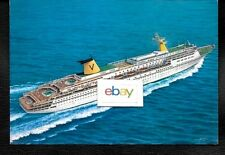 SITMAR CRUISES TO MEXICO 1984 T.S.S. FAIRSKY SHIP ISSUED LITHOGRAPH POSTCARD