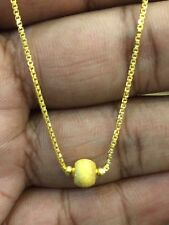 Gorgeous Dubai Handmade Chain Necklace In Solid Certified 22Carat Yellow Gold