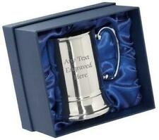 More details for personalised stainless steel us 1 pint tankard in a silk box any text you want
