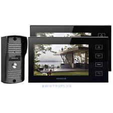HOMSECUR Video Door Entry Intercom 2x7'' LCD Monitors and HD Camera Metal Case