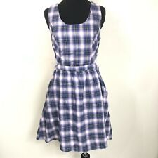 19fa29e2737 HOT TOPIC PURPLE PLAID TARTAN SIDE CUTOUT SCHOOLGIRL DRESS SIZE SMALL