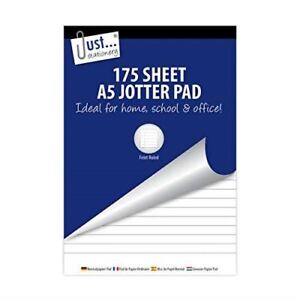 Just-Stationery 75 x 210 mm Lined Paper Shopping Pad Pack of 6
