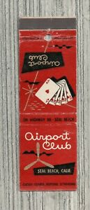 Matchbook Cover-Airport Club Lounge Seal Beach California-6094