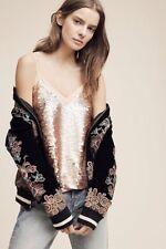 Anthropologie Moulinette Soeures Sz 6 Sequin Top Shirt Cami Tunic