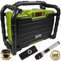 EMB 300W Power Box Jobsite Rechargeable Waterproof Speaker w/ Bluetooth /SD /USB
