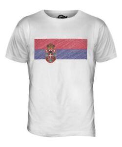 Republika Srpska Scribble Flagge Herren T-Shirt Oberteil Giftfootball Hemd