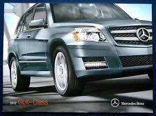 Prospekt brochure 2012 Mercedes Benz GLK class (Estados Unidos)