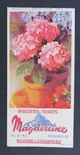 BUVARD BISCOTTES MAGDELEINE Granville Hortensia fleur rusk blotter Löscher