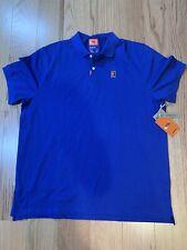 Nike Tennis Nike Heritage Polo Sz Xl BnwT Cj9524-480 Cotton Blend Blue
