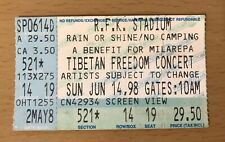 1998 Tibetan Freedom Concert Washington Dc 6/14 Ticket Stub Pearl Jam R.E.M. 521