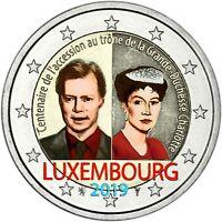 Luxemburg 2 Euro 2019 Großherzogin Charlotte Gedenkmünze in Farbe