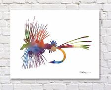 Fly Abstract Watercolor Painting Art Print by Artist DJ Rogers