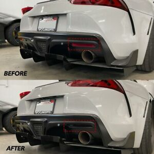 Toyota Supra GR Rear Bumper Reflector Tint Pre-Cut Overlay SMOKE