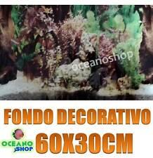 FONDO DECORATIVO de ACUARIO longitud 60cm altura 30cm terrario pecera D479