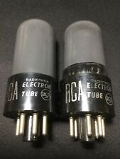RCA 6V6GT PAIR SMOKED GLASS POWER AMPLIFIER VACUUM TUBE VINTAGE STOCK #L.8066