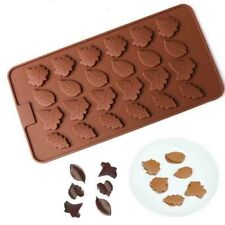24 Leaf Leaves Decorative Fondant Mold Chocolate Cake Candy Sugar Craft Mould 3D