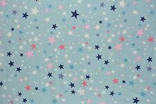 Grey Stars Flannelette