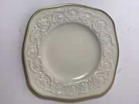 Vintage Wedgwood PATRICIAN With Gold Trim Square Salad Plate 8 3/4""