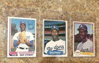 (3) Dave Stewart 1982 Topps Fleer Donruss Rookie Card Lot A's Dodgers RC
