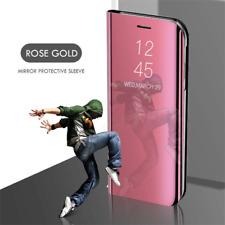 Para Apple IPhone 11 Pro 8 7 6 X + Mirror View Lujo Funda De Cuero Con Soporte