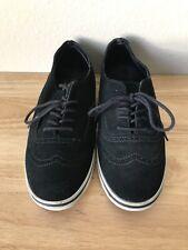 Vans Black Suede Leather Wingtip Skate Sneakers Shoes Men's 6.5 Women's 8