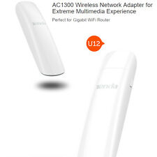 Tenda U12 AC1300 USB Wi-Fi Adapters/Dongles for Extreme Multimedia Experience