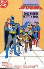 DC COMICS SUPER HEROES GOOD HEALTH AND ACTICITY BOOK (1989 Series) #1 Fine