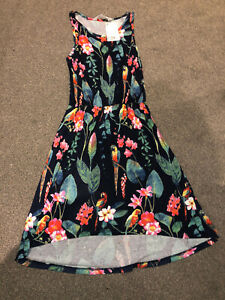 H&M Girls Age 10–12 Years Blue Floral Summer Dress - New With Tag