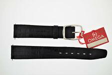 OMEGA NOS Vintage Leather Watch Strap Black 16/14 16mm incl. Buckle (B193)