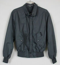 MEMBERS ONLY Mens Jacket Zip Cafe Racer Bomber Vtg 80s Rainbow Label Gray Sz 40
