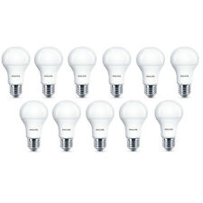 11x Philips LED Frosted E27 75w Warm White Edison Screw Light Bulbs Lamp 1055Lm
