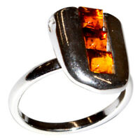 3g Authentic Baltic Amber 925 Sterling Silver Ring Jewelry N-A7127