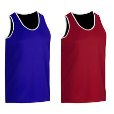 Boxing Vest Sleeveless Mens Top Brand New Quality BLUE, RED