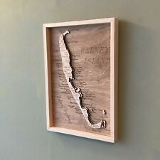 More details for walney island wooden topographic map cumbria barrow-in-furness isle of walney