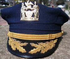 US NYPD CHIEF POLICE HAT CAP OBSOLETE
