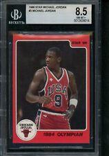 1986 Star #3 Michael Jordan BGS 8.5 from Subset Bag 1984 Olympian