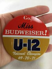 U-12 Go Miss Budweiser National Champion Hydroplane Unlimited Racing Pin Button