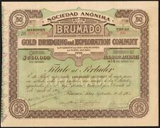 Argentina, Brumado oro dragado & Exploration Co., 50 acciones de $1, 1905