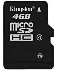 Tarjetas de memoria Universal MicroSDHC para teléfonos móviles y PDAs con 4 GB de la tarjeta