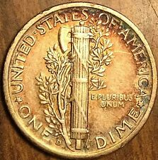 1939 UNITED STATES MERCURY SILVER DIME 10 CENTS COIN
