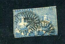 Australia Victoria 3A Stamp Pair Die 2 Rare Item Cancelled