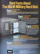 10/1982 PUB ROLM MIL-SPEC COMPUTER MILITARY HARD DISK ARMY AIR FORCE ORIGINAL AD
