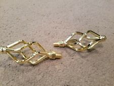 """NEW TWISTED GOLD BIRD CAGE BICYCLE PEDALS 1/2"""" LOWRIDER"""
