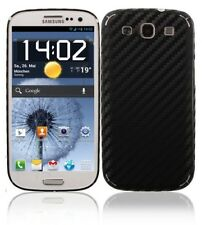 Skinomi Carbon Fiber Black Phone Skin+Screen Film Cover for Samsung Galaxy S III