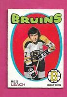 1971-72 OPC # 175 BRUINS REG LEACH ROOKIE VG CARD (INV# D3156)