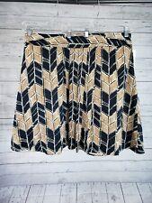 Merona Womens Skirt Sz 18 Black Brown Cotton